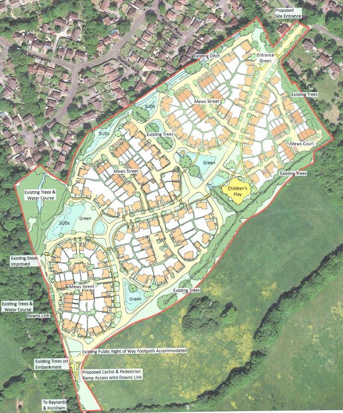 Crest Nicholson Chantreys Cranleigh site plan