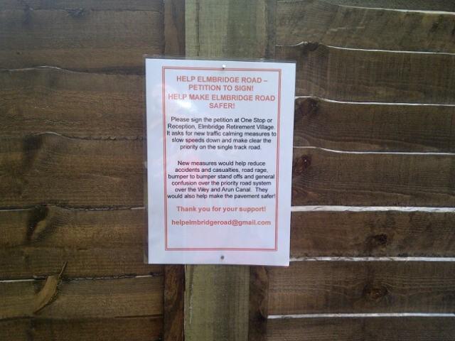 Elmbridge-road-petition-sign